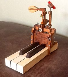 Steampunk piano assemblage