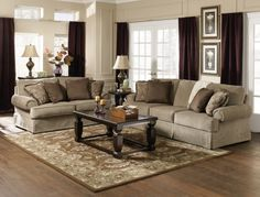 Traditional Living Room Furniture : Sheffield Platinum Living Room Set
