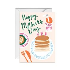 Happy Mothers Day Breakfast   Made from 100% recycled card, with an 100%recycled paper envelope Mothers Day Cards Printable, Printable Birthday Cards, Mother's Day Greeting Cards, Greeting Cards Handmade, Mothers Day Crafts, Happy Mothers Day, Mothers Day Breakfast, Card Drawing, Mom Day
