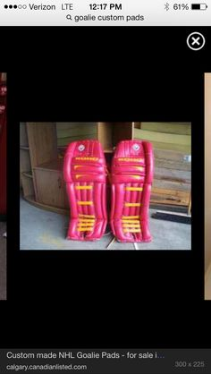 Custom gear Goalie Pads, Goalie Gear, Ice Hockey, Hunter Boots, Nhl, Rubber Rain Boots, Gears, Shoes, Zapatos