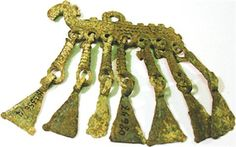 Undated Muromian (a Finno-Ugric group) horse pendant. From the Murom History and Art Museum.