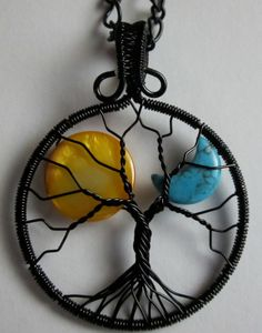 The Sun & the Moon Tree of Life Pendant by Mariesinspiredwire