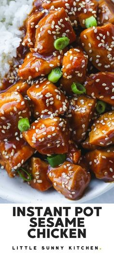Dump and start Instant Pot sesame chicken cooked in a rich honey soy sauce. This Chinese classic is made so easy in the Instant Pot, perfect for a busy mid-week dinner and definitely much better than a take out! #instantpotdinner #sesamechicken #instantpotsesamechicken Recipes With Soy Sauce, Honey And Soy Sauce, Chicken Soy Sauce Honey, Best Instant Pot Recipe, Instant Pot Dinner Recipes, Easy Dinner Recepies, Instant Pot Chinese Recipes, Chinese Chicken Recipes, Asian Recipes