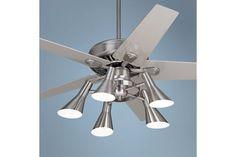 """Casa Vieja Windstar II Ceiling Fan - 52"""" Steel with Silver"""