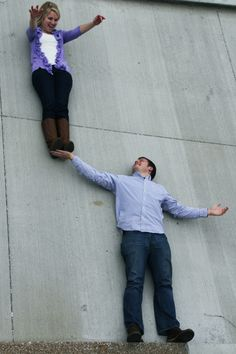 cute idea...laying on the ground...but looks like they are standing up