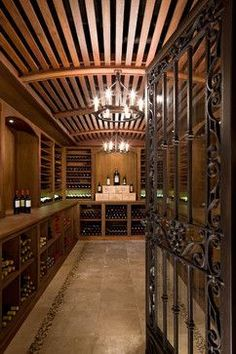 Cherry Creek - traditional - wine cellar - denver - Neumann Lewis Buchanan Architects #WineStorage