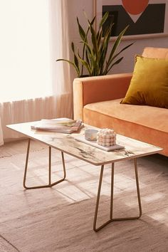 Chelsea Victoria For Deny Marble Coffee Table
