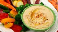 Easy, lightened up hummus.  (Doesn't require tahini - which is great because we've never been able to use up a jar)