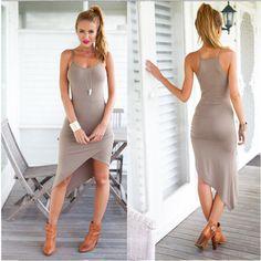 "Khaki Sleeveless Tight Over Hip Dress. Khaki Sleeveless Tight Over Hip Dress. Daily new & fast fashion at znu.com. Use Code ""znutx"" get 20%."