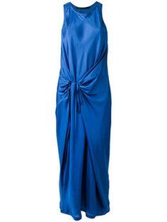драпированное платье без рукавов