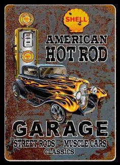 Quadro Vintage Garage 1