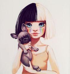 Les stars façon cartoon : Sia