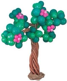 Springtime Bloom Tree - GO GREEN with this earth-friendly sculpture of a… Balloon Tree, Balloon Stands, Love Balloon, Balloons And More, Large Balloons, Balloon Centerpieces, Balloon Decorations, Ballon Arrangement, Pirate Crafts