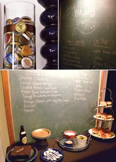 I like the big chalkboard listing out the menu and beer selections