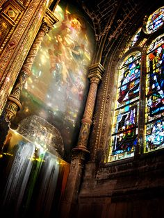 Saint Eustache, #Paris #stained #glass #windows.............LOVED!!!            BDR
