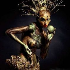 Arboreal Body Paint - Trendhunter has written about body art and body painting before. In fact, we have showcased the extraordinary work of very talented and diverse art...