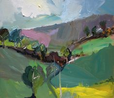 Richard Claremont #Art and #Inspiration - South Coast with Canola Field - #Landscapes #Oil #Paintings for Sale