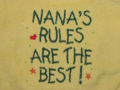 Nana's Rules Are The Best Bib in Yellow Introductory Price