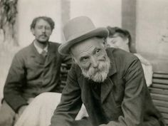 August Renoir, Pierre Bonnard and Misia Natanson photographed by Alfred Natanson after the funeral of French poet Stephane Mallarme, September, 1898