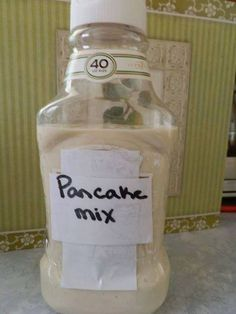 This is a great idea for camping. No more soggy mix boxes and carrying extra water!! You can do this with any batter mix.  ☆ Thank you all for passing my things around and sharing ☆  ☆ Follow me ---> https://www.facebook.com/susie.broch  ☆ Join my Group--> https://www.facebook.com/groups/HappinessHealthy  ☆ http://www.pinterest.com/susiebroch/
