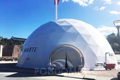 structure with limitless possibilities manufactured by Polidomes Int. for National Geographic. Dome Structure, National Geographic, Opera House, Tent, 3d, Digital, Building, Travel, Carp