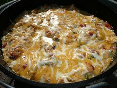 Everyday Dutch Oven: Dude Ranch Chicken - could use crock pot Cast Iron Cooking, Oven Cooking, Slow Cooker Recipes, Crockpot Recipes, Chicken Recipes, Cooking Recipes, Rockcrok Recipes, Skillet Recipes, Chicken