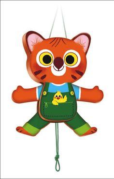 #Tiger #Wood by #Djeco trekpopje tijger hout 1j from www.kidsdinge.com              http://instagram.com/kidsdinge        https://www.facebook.com/kidsdingecom-Origineel-speelgoed-hebbedingen-voor-hippe-kids-160122710686387/