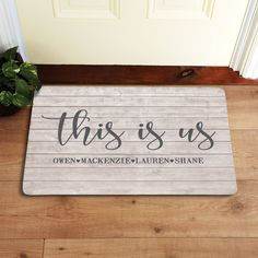 Need a unique gift? Send This Is Us Doormat and other personalized gifts at Personal Creations. Ideas Hogar, Garden Gifts, First Home, Couple Gifts, Retro, Auburn, Home Gifts, Diy Gifts, Interior Design Living Room