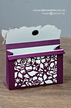 Independent Scotland - UK Stampin' Up! Demonstrator Bibi Cameron: DETAILED FLORAL THINLITS DIES PAPER PURSE AND ENVELOPE GDP048 - Case the Designer
