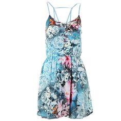 Vestido Floral Dariely 0002024 - Azul