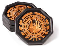 Battlestar Galactica Coaster Set — $14.99 | 42 Geeky Kitchen Items You Need Right Now