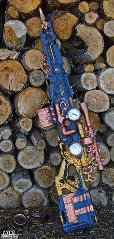 70 Epic Steampunk Art - Ideas of Nerf Gun - Steampunk-nerf-longshot-sniper-rifle-gun-art Steampunk Weapons, Steampunk Cosplay, Steampunk Witch, Nerf Gun, Steampunk Design, Steampunk Fashion, Steampunk Clothing, Gothic Fashion, Nerf Rifle