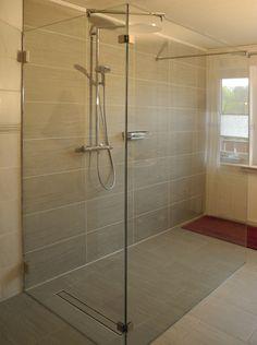 Klarglas Walk-in Dusche mit 2 Elementen-D01233-K