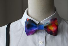 MERLIN Fashion Hot Bowtie,Basic Style with Inventive design, Gorgeous Galaxy printing, Bow Tie or Hair Bow on Etsy, $20.99