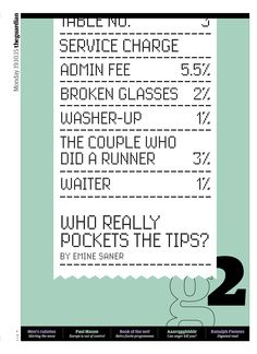 Guardian g2 cover: Tipping - Who really pockets the tips?