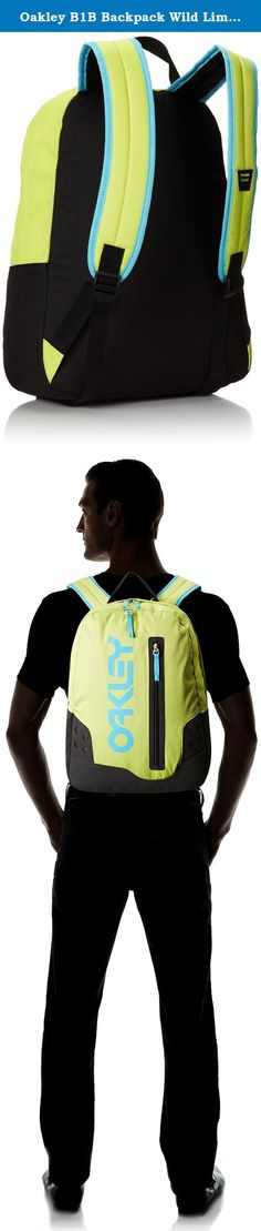 """Oakley B1B Backpack Wild Lime 26L Mens. Mid size day pack designed with basic needs in mind. 26L Capacity Padded panel fits most 15"""" laptops Organizer panel Side access, front zip panel Optics holder on shoulder strap 17"""" x 13"""" x 7"""" ."""