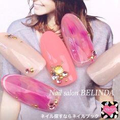 ネイル 画像 Nail Salon BELINDA 心斎橋 955710 ピンク ワンカラー 夏 ソフトジェル ハンド