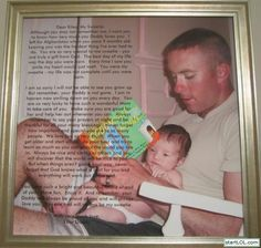 Soldier who died in Afghanistan left this note for his daughter...