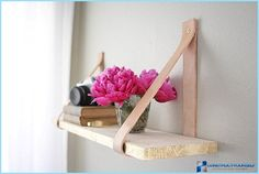 DIY : 9 Easy Projects to Upgrade Open Shelving. hot glue something cute over screw head, to hide it?