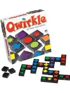 Qwirkle | Qwirkle is a tactile wooden block game that combines the logic and strategy of Set with the creative multi-maneuver game play of Scrabble.