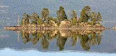 Reflection on Flathead Lake, MT