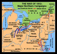 Map of the War of 1812