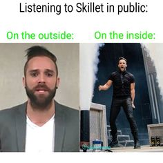 Me at school listening to skillet lol I Love Music, Music Is Life, House Music, Christian Rock Bands, Christian Songs, Skillet Band, Memphis May Fire, Heavy Metal Music, Band Memes