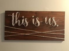 Custom This is us string art picture hanger wall decor nail