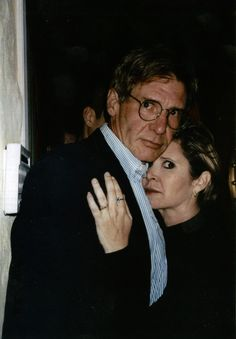 Harrison Ford and Carrie Fisher at one of Carrie Fisher and Penny Marshall's legendary joint birthday parties