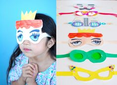 """Teri calls her new project a simple afternoon activity and I agree with her :) ... making these super happy paper eye-glasses or """"fun-glasses"""" with kids will bring lots of laughter to a ordinary afternoon. Click here to see how..."""