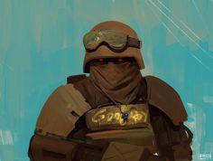 Speedpaint 30 by ProxyGreen Apocalypse Character, Apocalypse Art, Armor Concept, Concept Art, Character Concept, Character Art, Post Apocalyptic Art, Fallout Art, Military Art