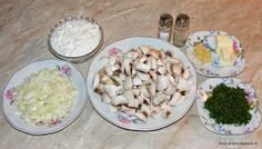 Ciulama de ciuperci cu smantana ingrediente Potato Salad, Potatoes, Ethnic Recipes, Food, Potato, Essen, Meals, Yemek, Eten