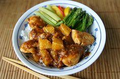 Foto: Orangen-Huhn Szechuan auf Reis