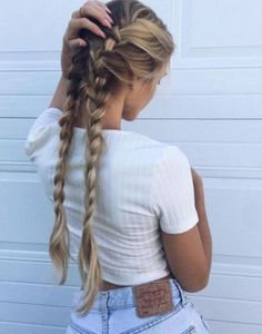 54 Cute and Easy Long Hairstyles for School for Fall and Winter - Hairstyle ? ♥ ♥♥ ♥♥ 54 Cute and Easy Long Hairstyles for School for Fall and Winter - Hairstyle ? Braided Hairstyles, Cool Hairstyles, Holiday Hairstyles, Easy School Hairstyles, Glamorous Hairstyles, Festival Hairstyles, Casual Hairstyles, Wedding Hairstyles, Latest Hairstyles
